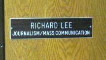 Richard Lee Office Sign