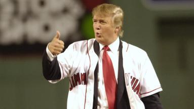trump baseball